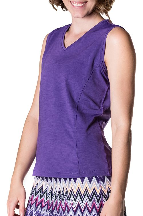 Womens Skirt Sports Free Me Sleeveless and Tank Tops Technical Tops - Amethyst Mist S