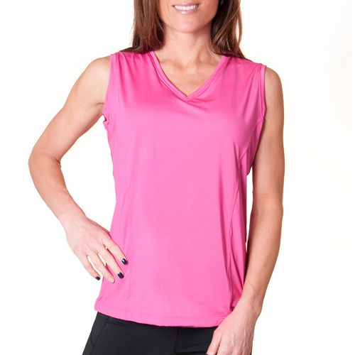 Womens Skirt Sports Free Me Tank Technical Tops - Pink Crush XXL