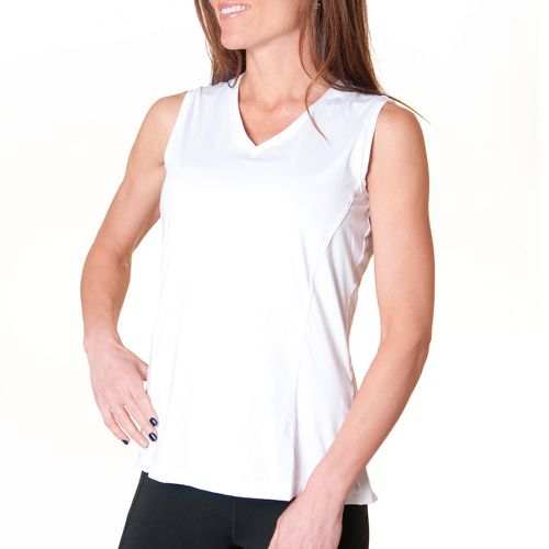 Womens Skirt Sports Free Me Tank Technical Tops - White L