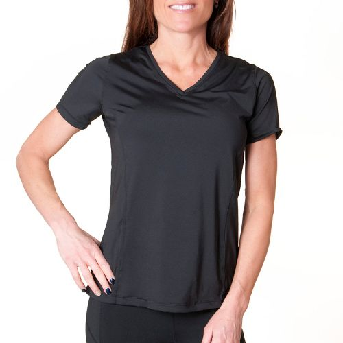 Womens Skirt Sports Free Me Tee Short Sleeve Technical Tops - Black XXL