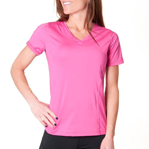 Womens Skirt Sports Free Me Tee Short Sleeve Technical Tops - Pink Crush L