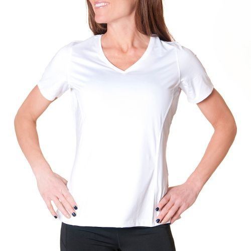 Womens Skirt Sports Free Me Tee Short Sleeve Technical Tops - White XS