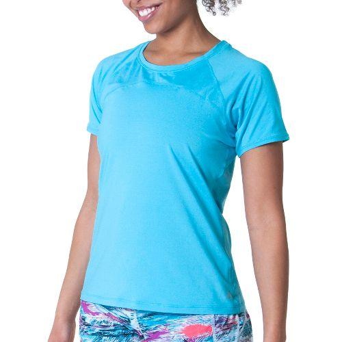 Womens Skirt Sports Jubilee Tee Short Sleeve Technical Tops - Blue Horizon XS