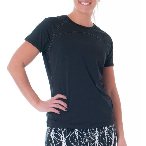 Womens Skirt Sports Jubilee Tee Short Sleeve Technical Tops - Black XXL