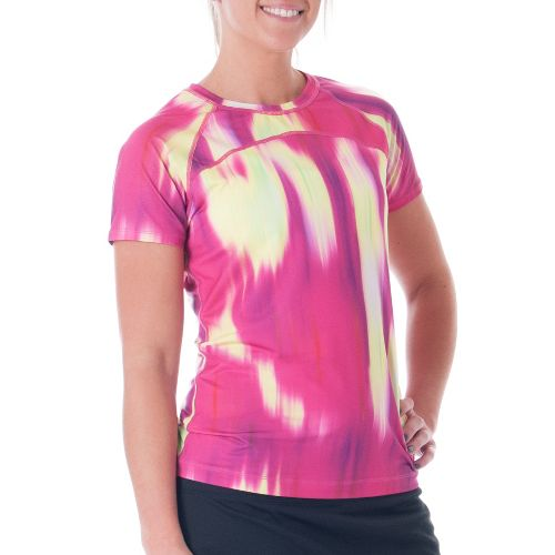 Womens Skirt Sports Jubilee Tee Short Sleeve Technical Tops - Blur Print S