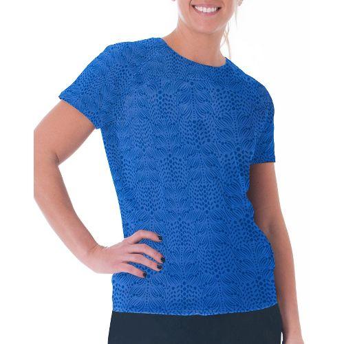 Womens Skirt Sports Jubilee Tee Short Sleeve Technical Tops - Whisper Print XXL