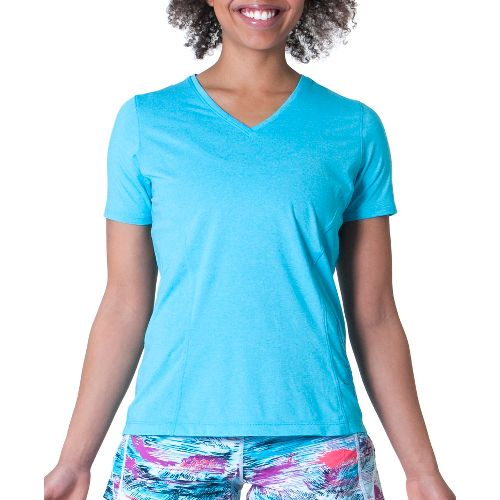 Womens Skirt Sports Easy Ride Top Short Sleeve Technical Tops - Blue Horizon L