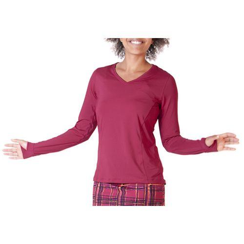 Womens Skirt Sports Free Me Long Sleeve No Zip Technical Tops - Sangria XXL