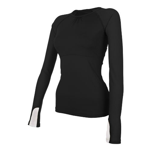 Womens Skirt Sports Runners Dream Long Sleeve No Zip Technical Tops - Black L