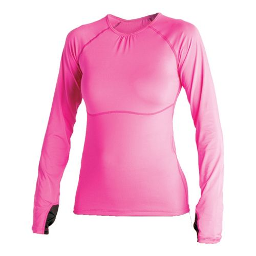 Womens Skirt Sports Runners Dream Long Sleeve No Zip Technical Tops - Pink Crush XL ...
