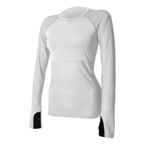 Womens Skirt Sports Runners Dream Long Sleeve No Zip Technical Tops - White S
