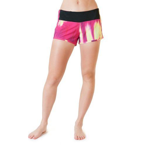 Womens Skirt Sports Redemption Run Lined Shorts - Blur Print XS