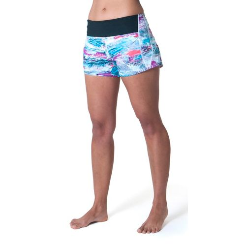 Womens Skirt Sports Redemption Run Lined Shorts - Oasis Print L