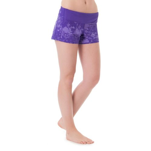 Womens Skirt Sports Redemption Run Lined Shorts - Purple Passion Print XL