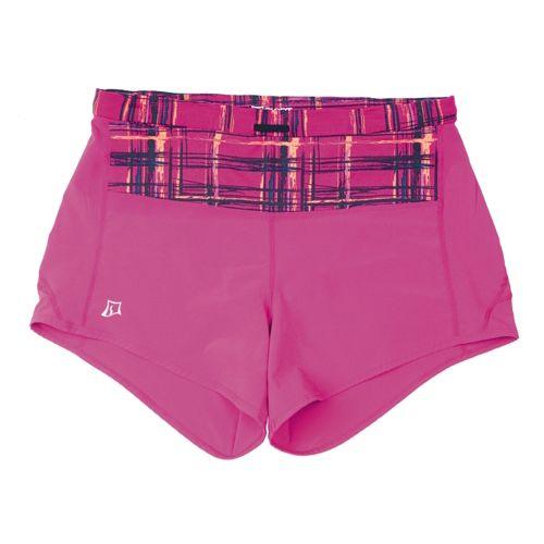 Womens Skirt Sports Redemption Run Lined Shorts - Sangria/Aberdeen Print L