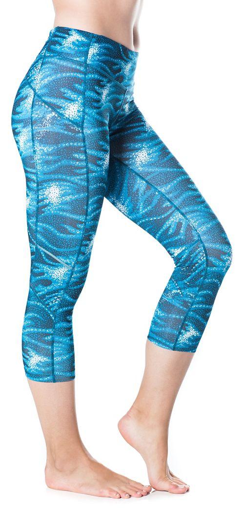 Womens Skirt Sports Redemption Capris Tights - Stargaze Print L