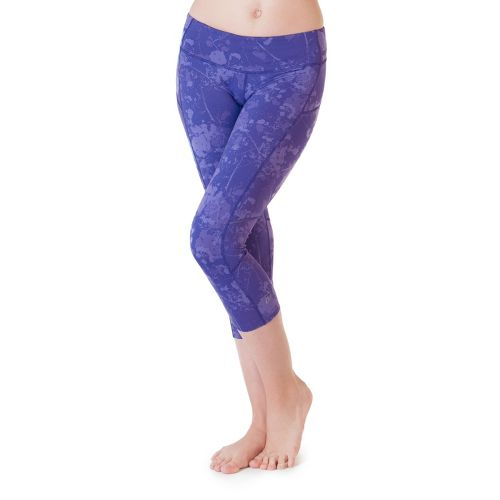 Womens Skirt Sports Redemption Capri Tights - Purple Passion Print XL