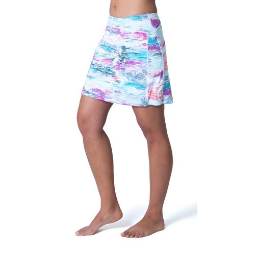 Womens Skirt Sports Happy Girl Skort Fitness Skirts - Oasis Print XS