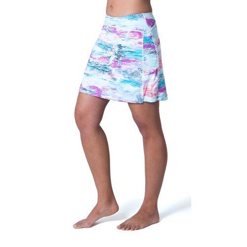 Womens Skirt Sports Happy Girl Skort Fitness Skirts - Oasis Print XS