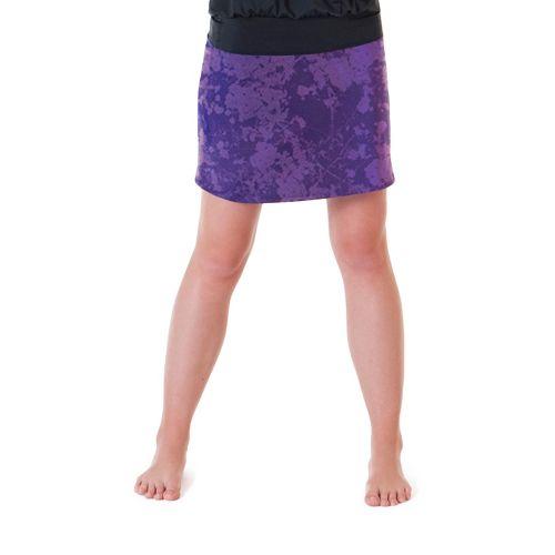 Womens Skirt Sports Happy Girl Skort Fitness Skirts - Purple Passion M