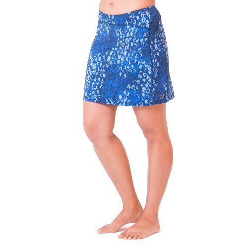Womens Skirt Sports Happy Girl Skort Fitness Skirts - Washed/Denim Print L