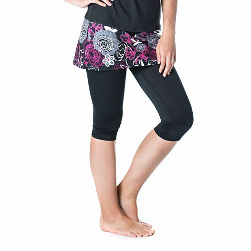 Womens Skirt Sports Lotta Breeze Capri Skorts Fitness Skirts - Enchanted/Black XS