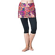 Womens Skirt Sports Lotta Breeze Capri Skorts Fitness Skirts - Black/Frolic XS