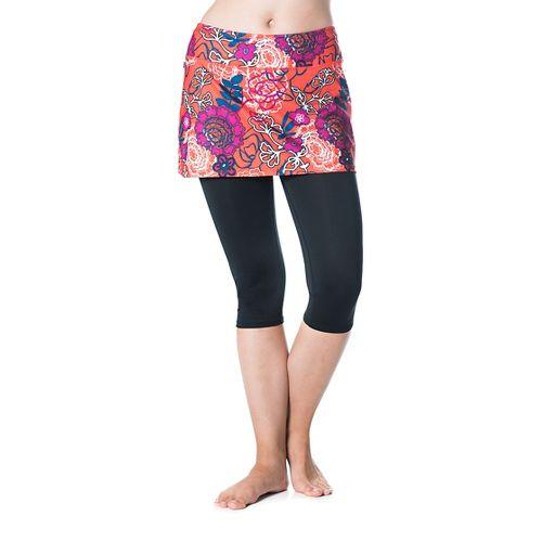 Womens Skirt Sports Lotta Breeze Capri Skorts Fitness Skirts - Black/Frolic XL