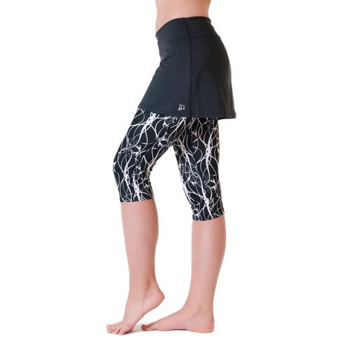 Womens Skirt Sports Lotta Breeze Capri Skort Fitness Skirts - Black/Twisted Print L