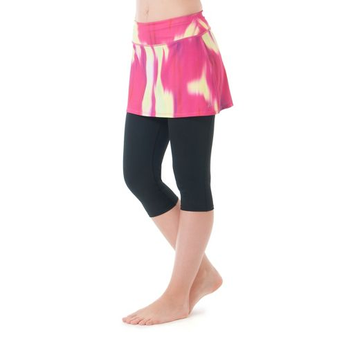 Womens Skirt Sports Lotta Breeze Capri Skort Fitness Skirts - Blur Print/Black XS