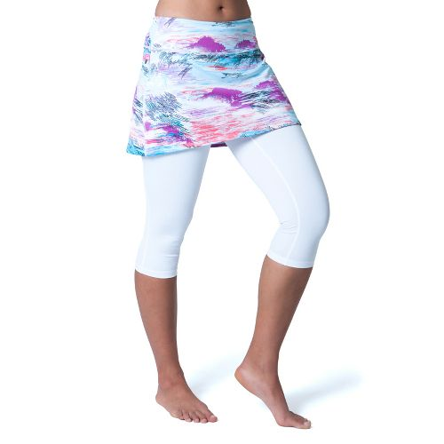 Womens Skirt Sports Lotta Breeze Capri Skort Fitness Skirts - Oasis Print/White Legs S