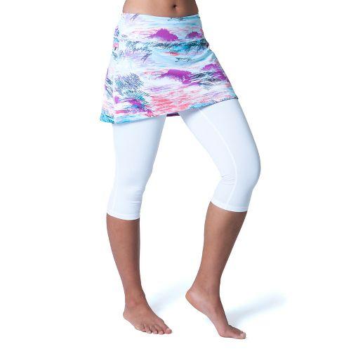Womens Skirt Sports Lotta Breeze Capri Skort Fitness Skirts - Oasis Print/White Legs XL