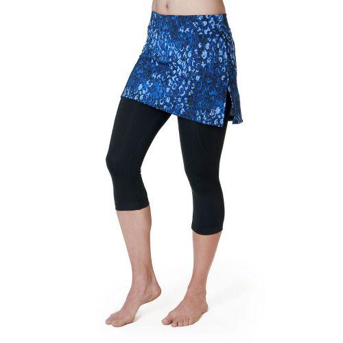 Womens Skirt Sports Lotta Breeze Capri Skort Fitness Skirts - Washed/Denim Print/Black M