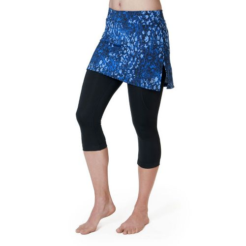 Womens Skirt Sports Lotta Breeze Capri Skort Fitness Skirts - Washed/Denim Print/Black XXL