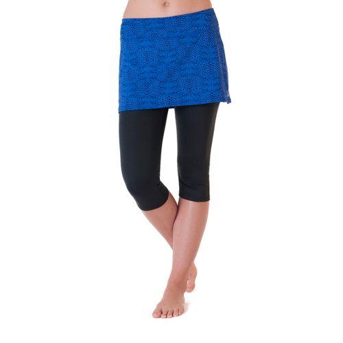 Womens Skirt Sports Lotta Breeze Capri Skort Fitness Skirts - Whisper Print/Black L