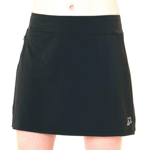 Womens Skirt Sports Cruiser Bike Girl Skort Fitness Skirts - Black L