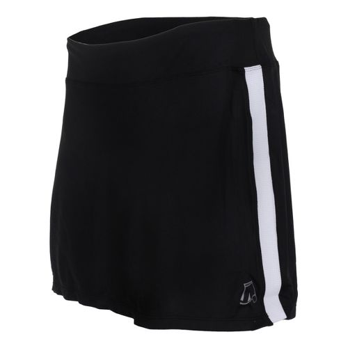 Womens Skirt Sports Cruiser Bike Girl Skort Fitness Skirts - Black/White XS