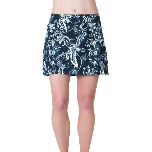 Womens Skirt Sports Cruiser Bike Girl Skort Fitness Skirts - Paradise Print XL