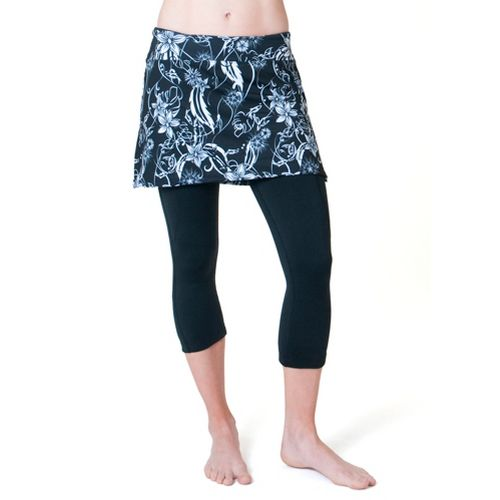 Womens Skirt Sports Cruiser Bike Knicker Skort Fitness Skirts - Paradise Print/Black Legs L