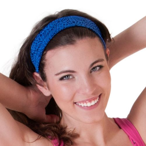 Womens Skirt Sports Headband Headwear - Whisper Print