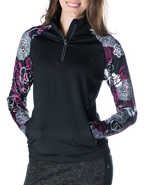 Womens Skirt Sports Tough Chick Long Sleeve Technical Tops - Black/Enchanted S