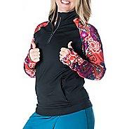 Womens Skirt Sports Tough Chick Long Sleeve Technical Tops - Black/Frolic XS