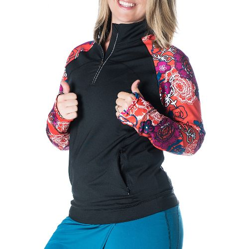 Womens Skirt Sports Tough Chick Long Sleeve Technical Tops - Black/Frolic L