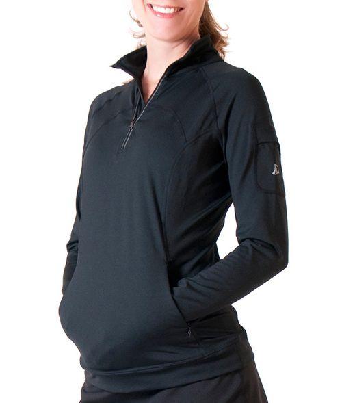 Womens Skirt Sports Tough Chick Long Sleeve Technical Tops - Black XS