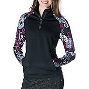 Womens Skirt Sports Tough Chick Top Long Sleeve 1/2 Zip Technical Tops
