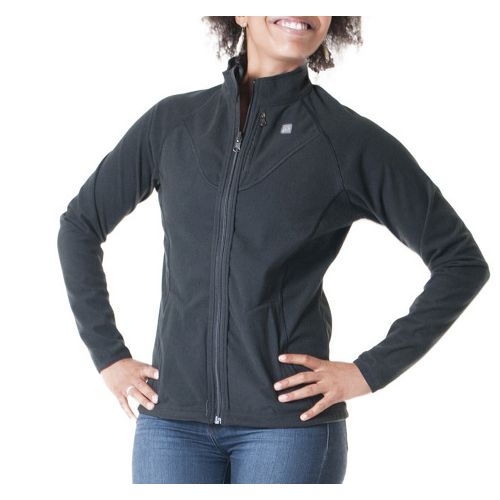 Womens Skirt Sports Gemini Reversible Outerwear Jackets - Black S