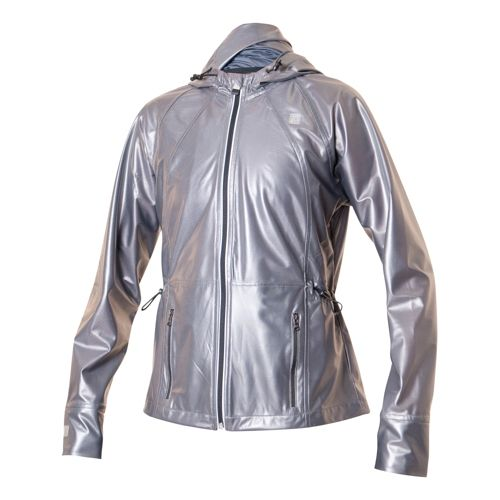 Womens Skirt Sports Skirt Breaker Ultra Warm-Up Hooded Jackets - Titanium XS