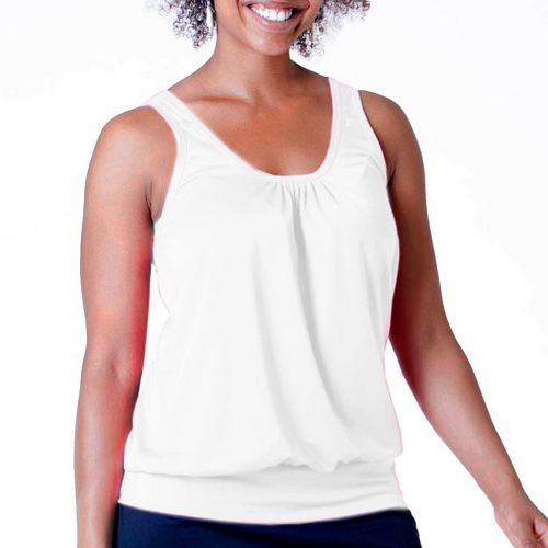 Womens Skirt Sports Go Getter Tanks Technical Tops - White XXL