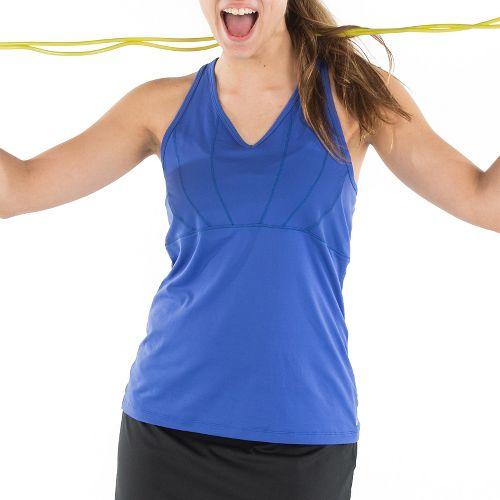 Womens Skirt Sports Eclipse Sleeveless & Tank Technical Tops - Marine L