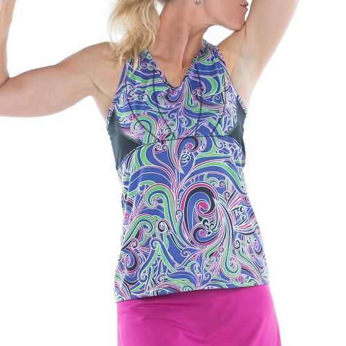 Womens Skirt Sports Eclipse Sleeveless & Tank Technical Tops - Exotic Print/Black M